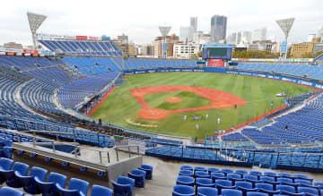左翼ウィング席が完成した横浜スタジアムのお披露目も、さらに持ち越しとなった=3月