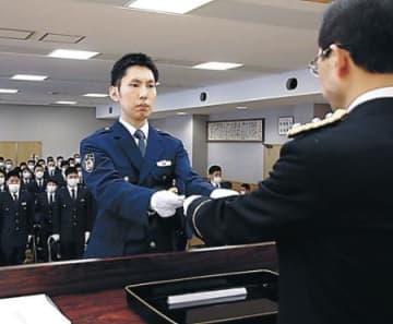 県民守る決意新た 県警察学校83人が入校 新型コロナで規模縮小