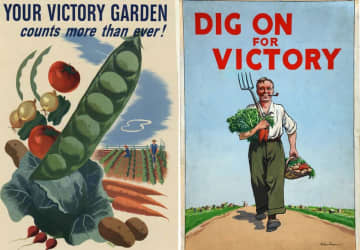 Posters created during WWII to promote Victory Gardens. (U.S. Dept. of Agriculture/)