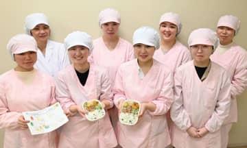 「栄養バランスの取れた食事を楽しんでほしい」との思いを込めて弁当を作った学生ら