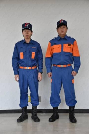 今までの活動服(左)と新しくなった活動服