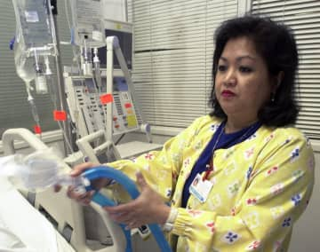 U.S. hospitals bracing for a possible onslaught of coronavirus patients with pneumonia and other breathing difficulties could face a critical shortage of mechanical ventilators and health care workers to operate them. (AP Photo/)