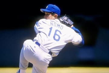 1995年にドジャースに加入した野茂英雄氏【写真:Getty Images】