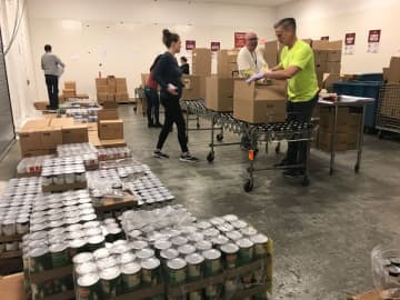 Volunteers and workers at the Food Bank of South Jersey (Provided by the Food Bank of South Jersey/)