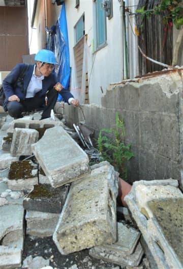 危険ブロック塀撤去に助成格差 地震経験の福岡・熊本高く、佐賀は0%