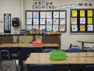 An empty classroom in the Highland Park School District.(Patti Sapone   NJ Advance Media/)
