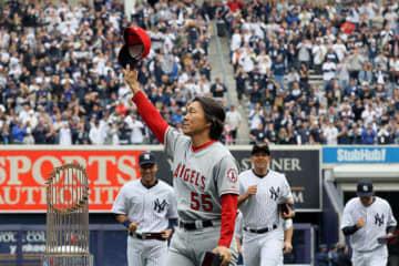ヤンキースタジアムに凱旋した松井秀喜氏【写真:Getty Images】