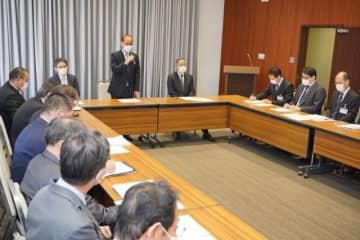 岡山市が開いたコロナウイルス対策本部会議