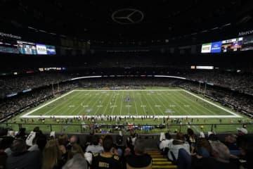 ニューオリンズ・セインツの本拠地メルセデス・ベンツ・スーパードーム【Matt Patterson via AP】