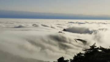 黄山で雲海やブロッケン現象観測 安徽省