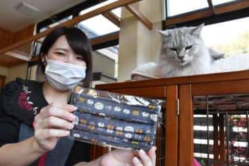 猫柄マスク