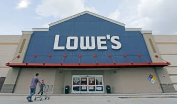 About 300,000 Lowe's employees are working during the coronavirus pandemic. (Alan Diaz | AP Photo)  (Alan Diaz/)