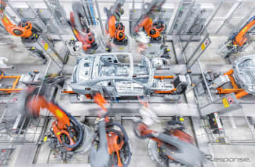 アウディのドイツ・インゴルシュタット工場の生産ライン