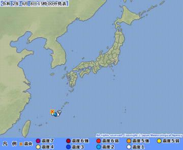各地の震度(気象庁ウェブサイトより)