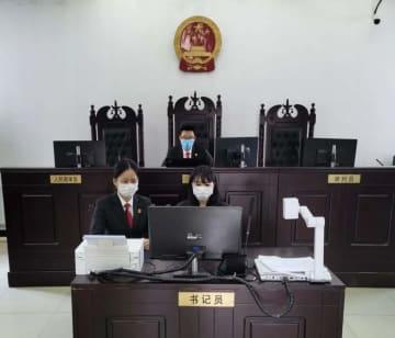 「クラウド法廷」で離婚訴訟を審理 蓋州市人民法院