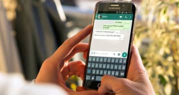 If a regularly forwarded message is received, the content will now include a double arrow symbol to alert the user to the message's popularity. (Shutterstock)
