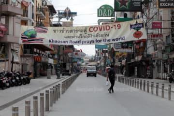 Khao San Raod is unusually quiet after the coronavirus outbreak hit Thailand. (Photo by Chanat Katanyu)