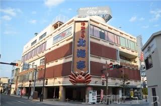 13日から休業することを決めた北海亭前橋本店。店のある前橋市中心街も人通りがまばらだ=8日
