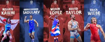 <レスリング>UWWが川井梨紗子(ジャパンビバレッジ)ら世界トップ選手の無料壁紙を作成