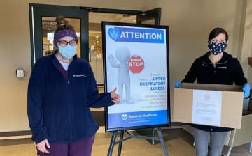 Nicole Piazza (pictured) and her husband, Anthony, the owners of The Clean Plate Kitchen, have been providing meals for the Hunterdon Medical Center. (Photo courtesy of The Clean Plate Kitchen/)