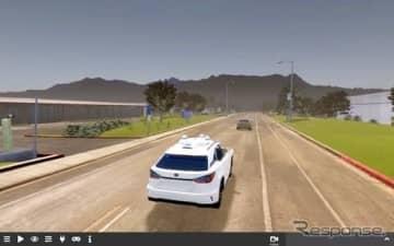 アクセル制御(前方車両との車間距離維持)のシミュレーション