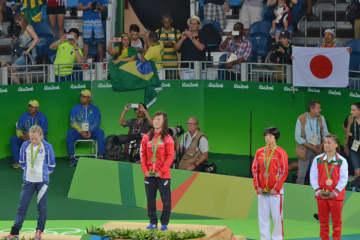 のべ11人の日本女子選手が立ったオリンピックの頂点=2016年リオデジャネイロ・オリンピック
