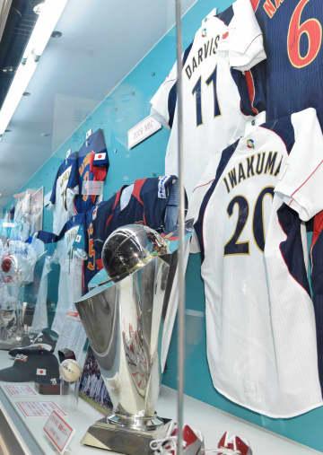 野球殿堂博物館に飾られた日本代表ユニホーム