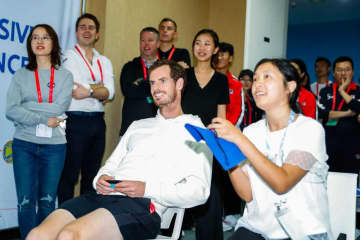 2019年「ATP500 北京」でのマレー