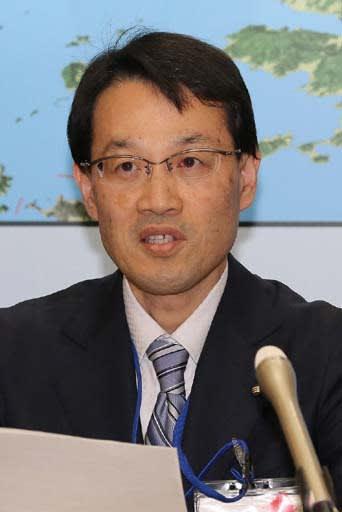 広島市内での14人目の感染者について発表する阪谷幸春・保健医療担当局長