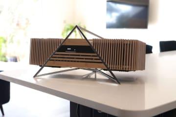 竹製の外装デザイン ハイレゾ音源対応ワイヤレスオーディオシステム