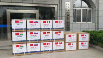 江蘇省淮安市、医療物資を姉妹都市に寄贈