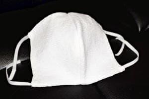 抗菌防臭加工された綿糸を使ったニットマスク