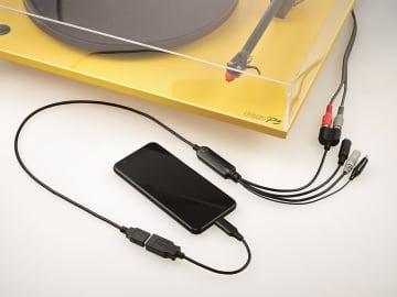 レコード/カセット/MDの音楽をスマホ/ウォークマンにPCレス録音できる「ADレコ」。曲名やジャケ写も自動で付与