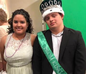 Naming a prom king and queen like Giavanni Egavil and Faith Decker may be challenging this year for Felician School for Exceptional Children in New Jersey which will have a virtual prom in the wake of coronavirus school shutdown. (provided/)