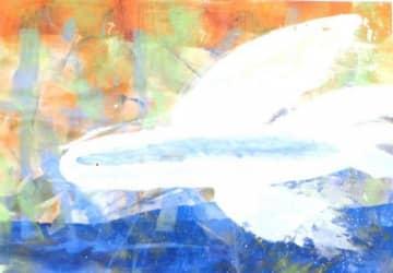 世界児童画展で文部科学大臣賞を受賞した「とびうお」