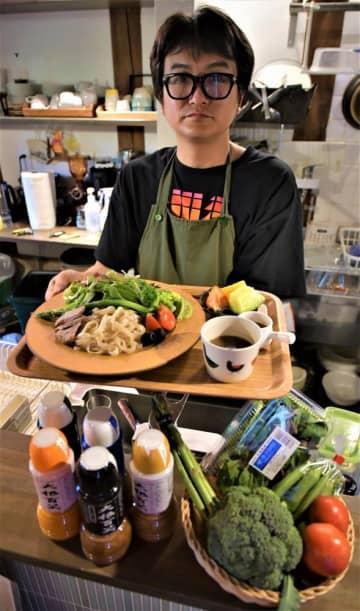 笠間の5店舗がコラボ「サラダつけ麺」 市内のカフェで提供