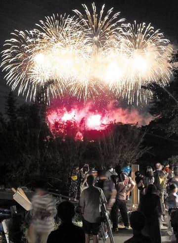 大輪が夜空を彩った花火大会=2018年7月、さいたま市
