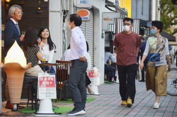 佐賀で屋外飲食の社会実験開始