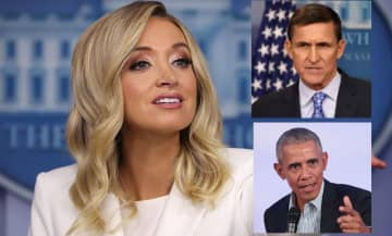 Press Secretary Kayleigh McEnany turns questions on Flynn investigation back on reporters
