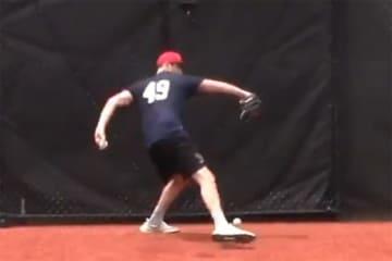 サンジャシント短期大学のルーク・リトル投手(画像はスクリーンショット)