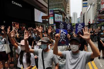 香港でデモ、180人逮捕 数千人参加、警察が催涙弾 画像