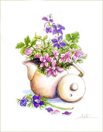 ◆ ちどり草と茶つぼ◆