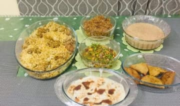 Eid delicacies at Zeenat Enam's home. (Supplied)
