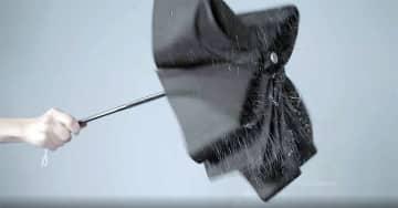 3秒でスパッと折りたためる傘 urawaza ウラワザ! 京都ムーンバット発、世界初の形態安定技術で... 画像