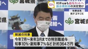 村井知事も給与カットへ 新型コロナ対策の財源に〈宮城〉 画像
