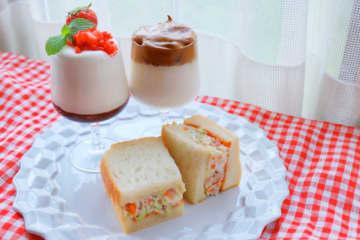 センタルギウユ♡ダルゴナコーヒー♡そして野菜たっぷり卵サンド♡でカフェ気分