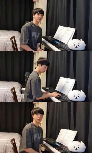 BTS・JIN「新しい趣味ができた!」YouTubeライブでピアノ演奏、新しいアルバムのデザインに参加してみようと考え中!