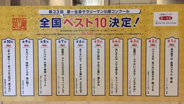 「サラリーマン川柳」ベスト10発表  画像