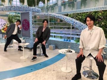 中村蒼、博多華丸・大吉との『あさイチ』3ショットを公開「この写真は宝にします!」