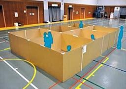 神戸市が避難所の感染対策を策定 検温、間仕切りも設置